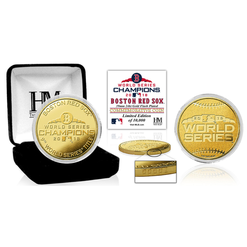 Photo of Boston Red Sox 2018 World Series Champions Gold Mint Coin