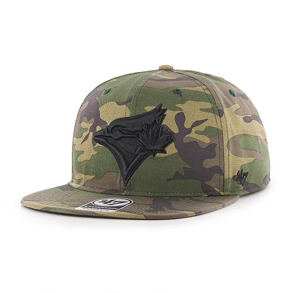 Toronto Blue Jays Grove Captain Camo Snapback Cap by '47 Brand