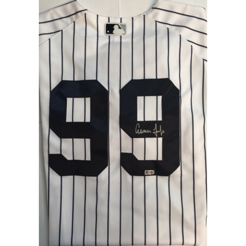 Photo of Aaron Judge Autographed Authentic Yankees Jersey
