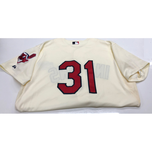 Danny Salazar Team Issued Alternate Home Creme Jersey