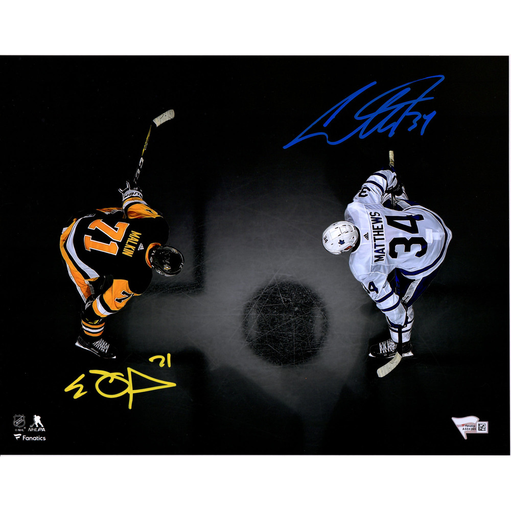 Auston Matthews and Evgeni Malkin Autographed 11