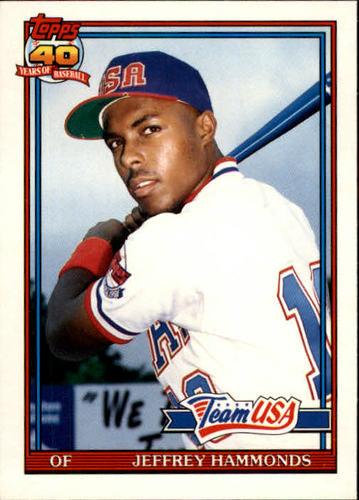 Photo of 1991 Topps Traded #51T Jeffrey Hammonds USA RC