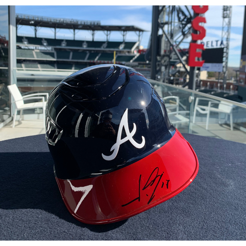 Photo of Johan Camargo Autographed Helmet