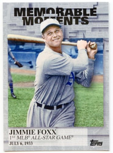 Photo of 2017 Topps Memorable Moments #MM26 Jimmie Foxx