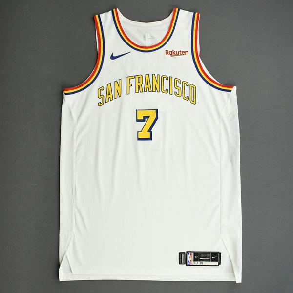 Image of Eric Paschall - Golden State Warriors - Game-Worn Classic Edition - 1962-63 San Francisco Home Jersey - 2019-20 NBA Season