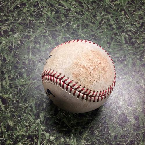 Photo of Game-Used Baseball HOU@MIL 09/02/19 - Adrian Houser - Alex Bregman: Single