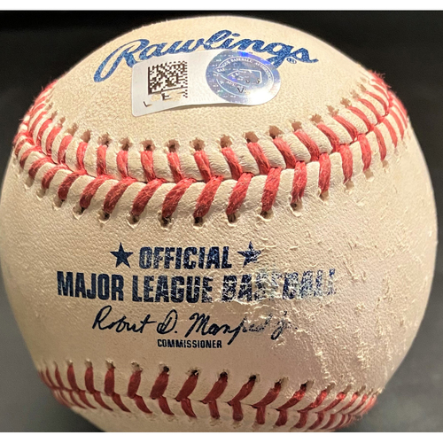 Photo of Game-Used Baseball: Francisco Lindor Cleveland Indians RBI Double (MLB AUTHENTICATED)