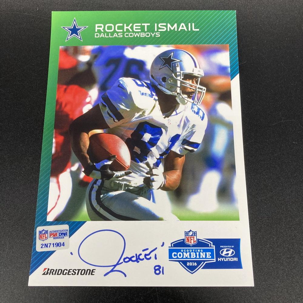 Legends - Cowboys Rocket Ismail Signed Post Card