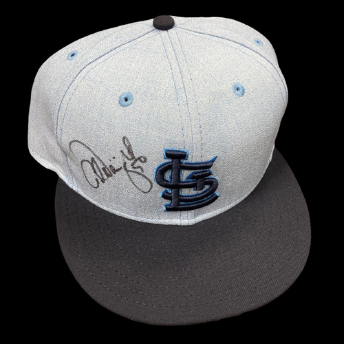 Photo of Adam Wainwright Autographed Father's Day Home Cap (Size 7 3/4)