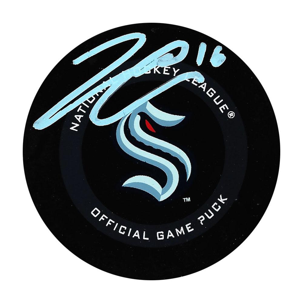 Jared McCann Autographed Seattle Kraken Official Game Puck