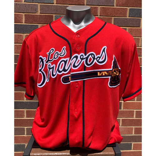 Photo of Marty Reed MLB Authenticated and Game-Used Los Bravos Jersey