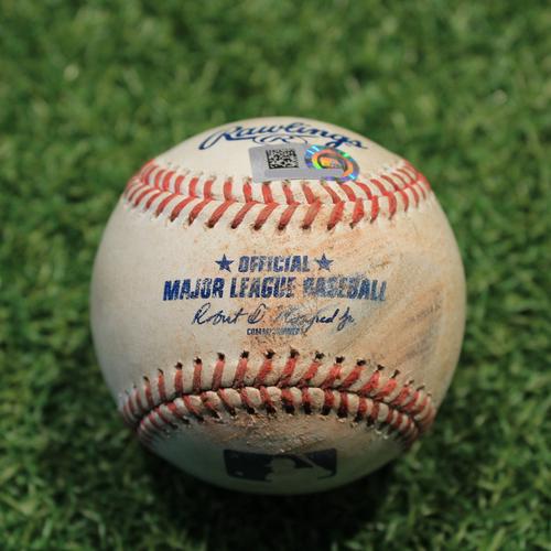 Photo of Game-Used Baseball: Carlos Correa 155th Career Double (HOU@KC 8/19/21)