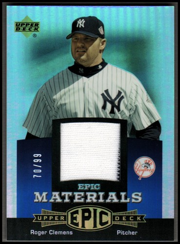 Photo of 2006 Upper Deck Epic Materials Blue #RC2 Roger Clemens Jsy/99