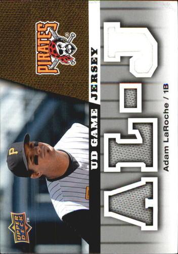 Photo of 2009 Upper Deck UD Game Jersey #GJLA Adam LaRoche UER/Andy LaRoche pictured