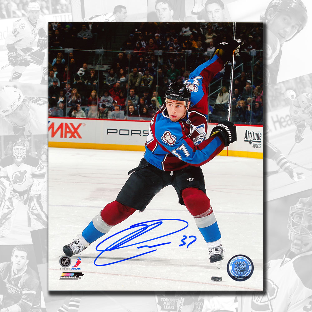 Ryan O'Reilly Colorado Avalanche Slapshot Autographed 8x10
