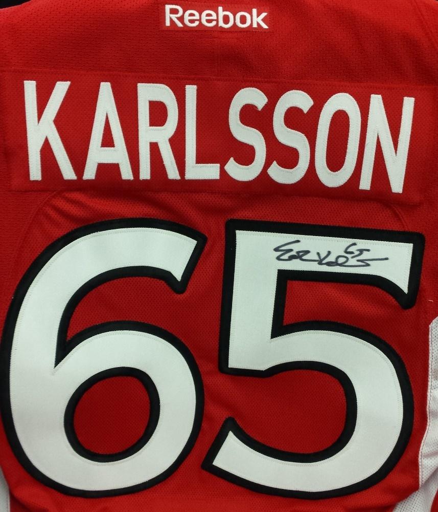 #65 Erik Karlsson Autographed Ottawa Senators Home Jersey  (Not Game Worn)