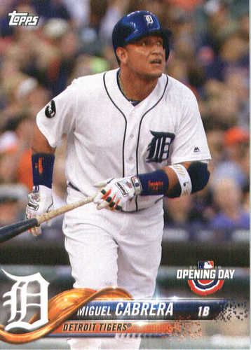 Photo of 2018 Topps Opening Day #46 Miguel Cabrera