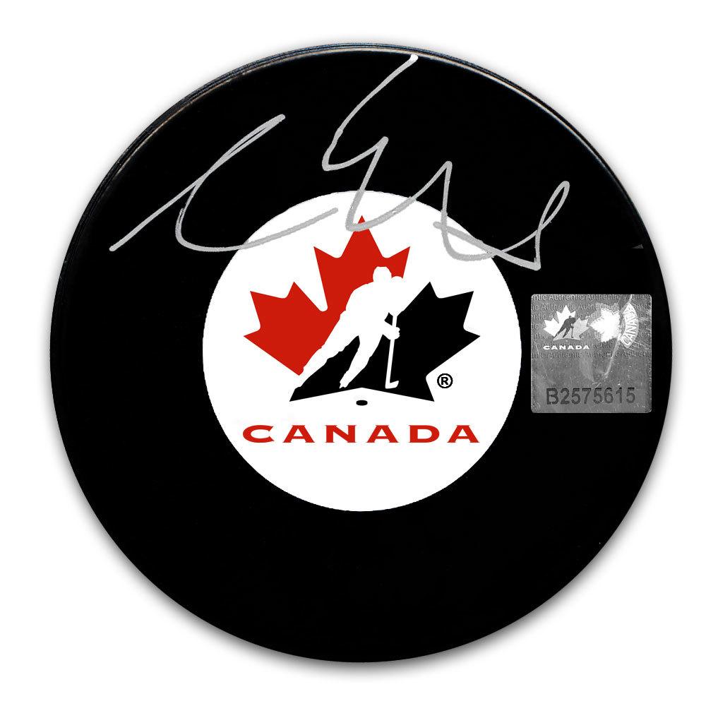 Aaron Ekblad Team Canada Autographed Puck