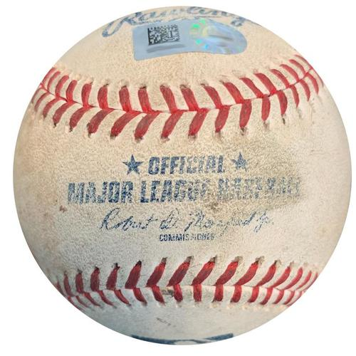 Photo of Game-Used Baseball from Pirates vs. Marlins on 9/7/18 - Chris Archer Strikeout Pitch