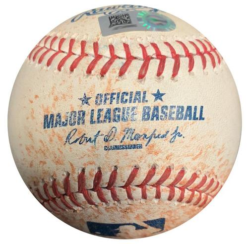 Photo of Game-Used Baseball from Pirates vs. Nationals on 7/24/15 - Gregory Polanco RBI Single