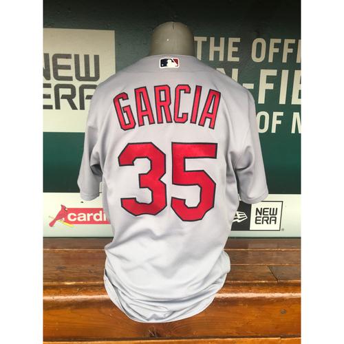 Photo of Cardinals Authentics: Game Worn Greg Garcia Road Grey Jersey