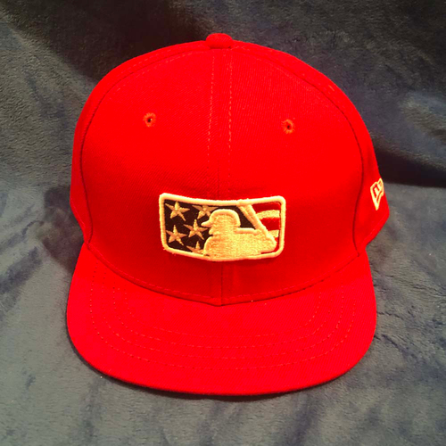Photo of UMPS CARE AUCTION: MLB Specialty Stars and Stripes Umpire Plate Cap, Red, Size 7 5/8
