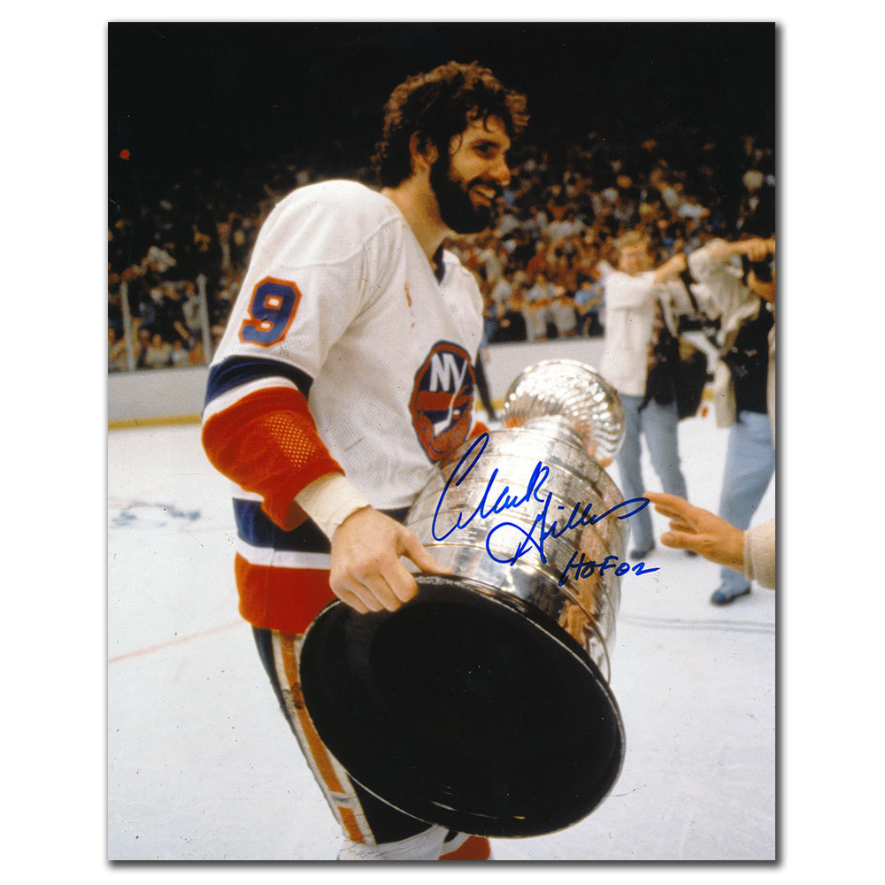 Clark Gillies New York Islanders 1980 STANLEY CUP Autographed 8x10