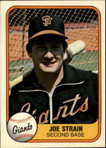Photo of 1981 Fleer #458 Joe Strain