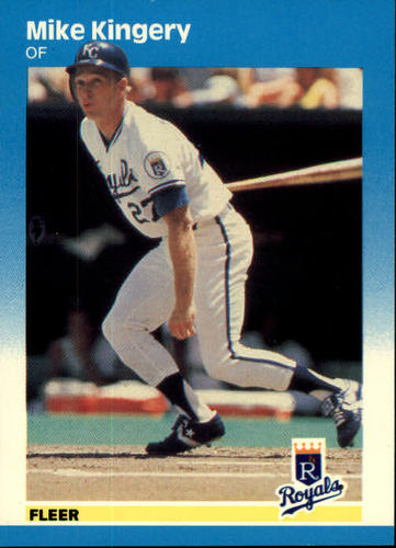 Photo of 1987 Fleer #371 Mike Kingery RC