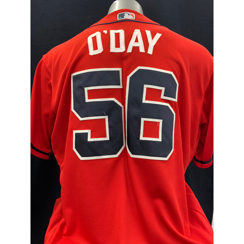 Photo of Darren O'Day Game-Worn Los Bravos Jersey