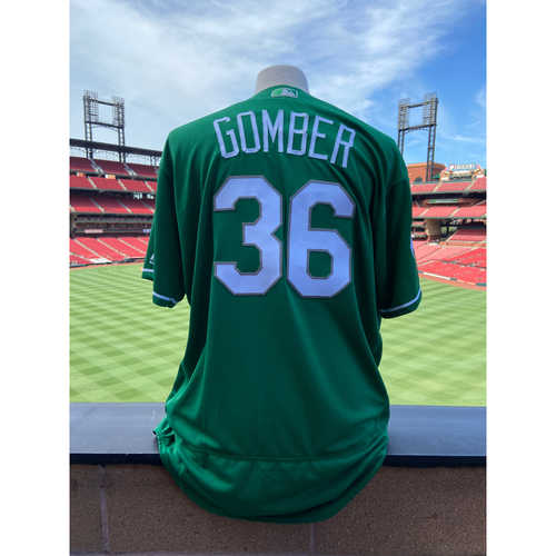 Photo of Cardinals Authentics: Team Issued Austin Gomber St. Patrick's Day Jersey
