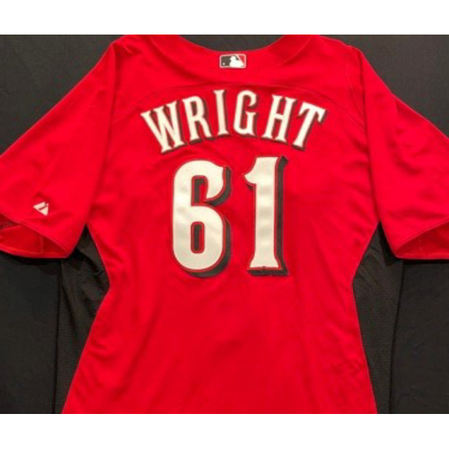 Photo of WRIGHT-61 -- Authentic Reds Jersey -- $1 Jersey Auction -- $5 Shipping -- Size 46 (Not MLB Authenticated)
