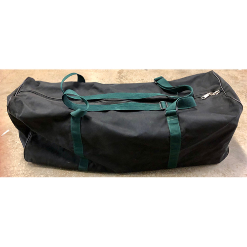 Team Issued Equipment Bag: Black Bag with Green Straps