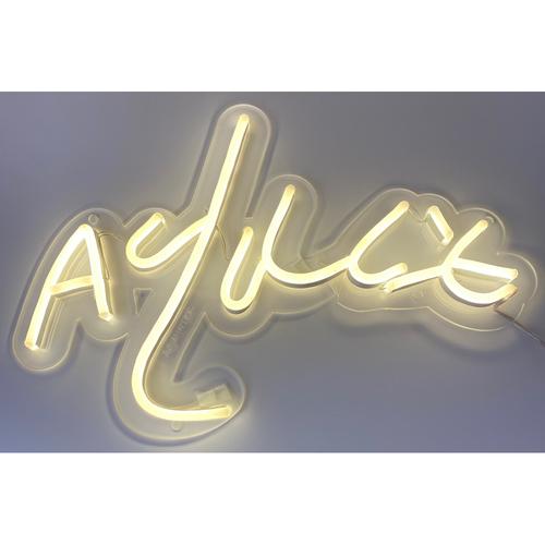 Photo of AJ Minter Autograph Neon Sign
