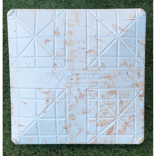 Photo of Game Used Base with 9/11 Remembrance Jewel - 3rd Base, Innings 1-3 - Javier Baez Home Run, Aaron Judge Home Run, Brett Gardner Home Run; McCann Triple - Mets vs. Yankees - 9/11/21