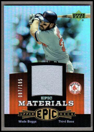 Photo of 2006 Upper Deck Epic Materials Dark Orange #WB2 Wade Boggs Jsy/185