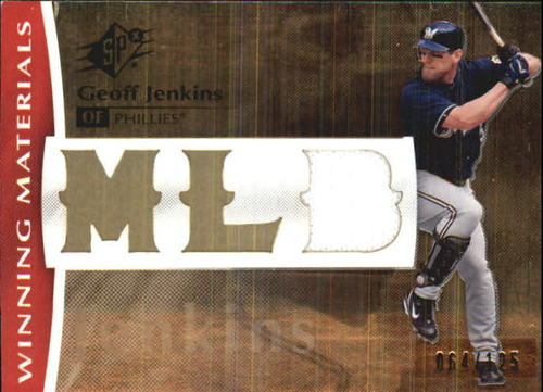Photo of 2008 SPx Winning Materials MLB 125 #GJ Geoff Jenkins