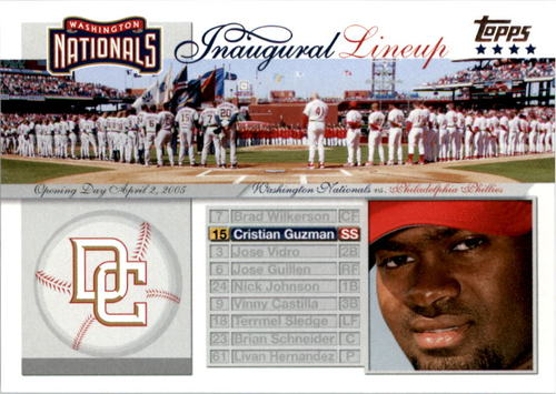Photo of 2005 Topps Update Washington Nationals Inaugural Lineup #CG Cristian Guzman