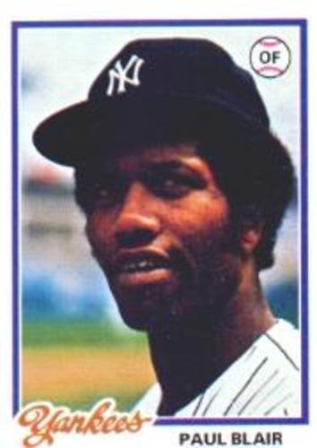 Photo of 1978 Topps #114 Paul Blair