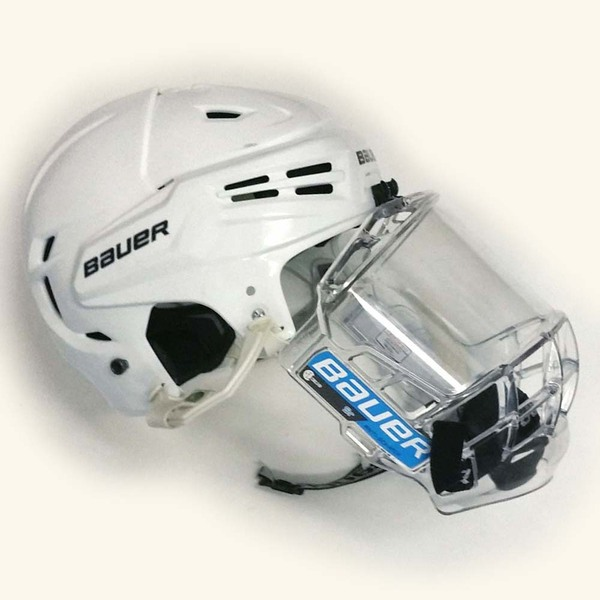 Photo of Penn State Game-Used Men's Ice Hockey Helmet (White/not numbered)