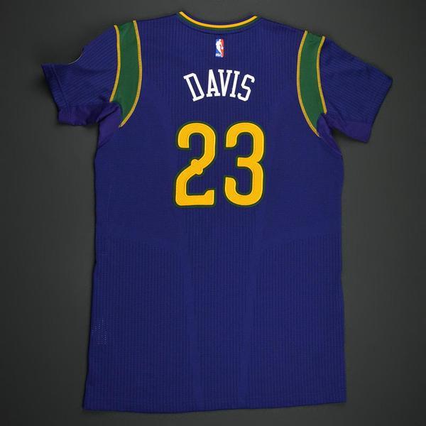 51a40b515 Anthony Davis - New Orleans Pelicans - Purple  Mardi Gras  Game-Worn ...