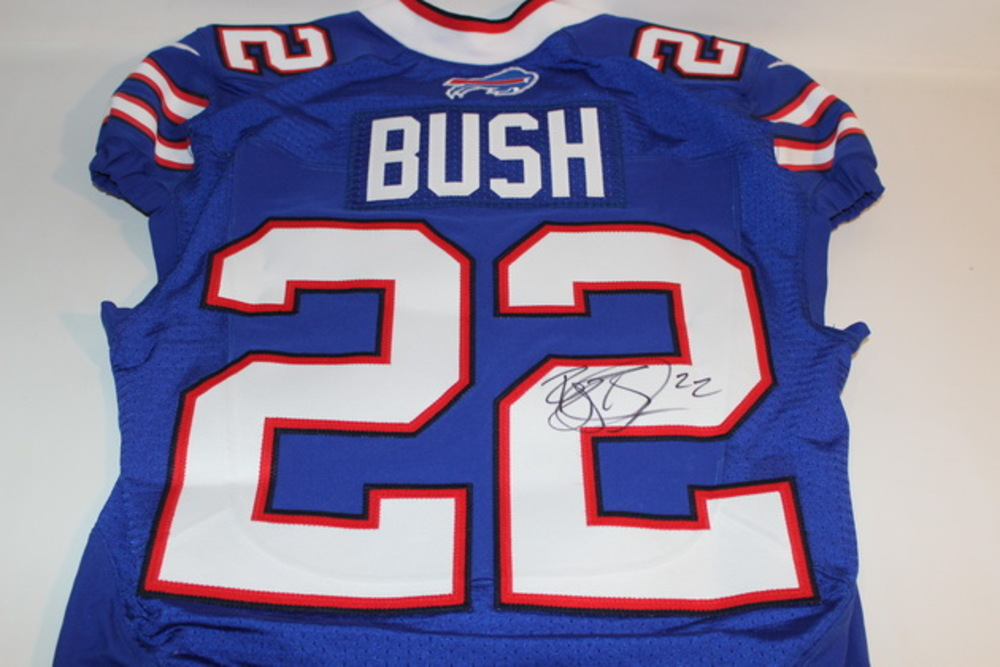 BCA - BILLS REGGIE BUSH GAME ISSUED AND SIGNED BILLS JERSEY (OCTOBER 16 2016)