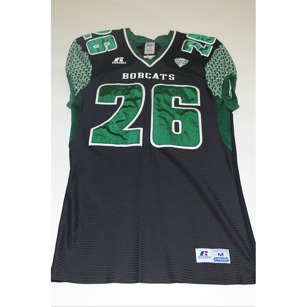 Photo of # 26 - Official OHIO BOBCATS Game Worn Football Jersey (2011) - SIZE MEDIUM