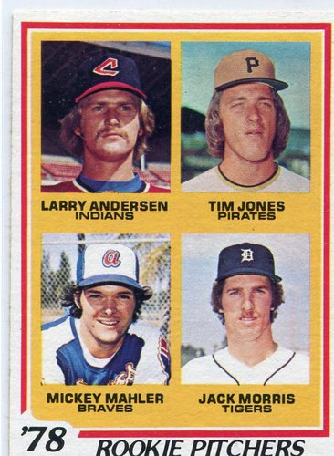 Photo of 1978 Topps #703 Rookie Pitchers Jack Morris -- Newest Hall of Famer Class of 2018
