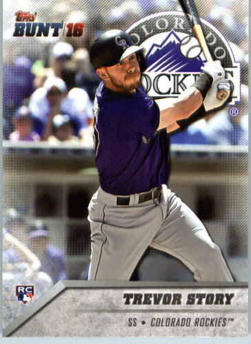 Photo of 2016 Topps Bunt #59 Trevor Story Rookie Card