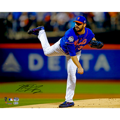 "Photo of Matt Harvey New York Mets Autographed 16"" x 20"" World Series Pitching Photo"