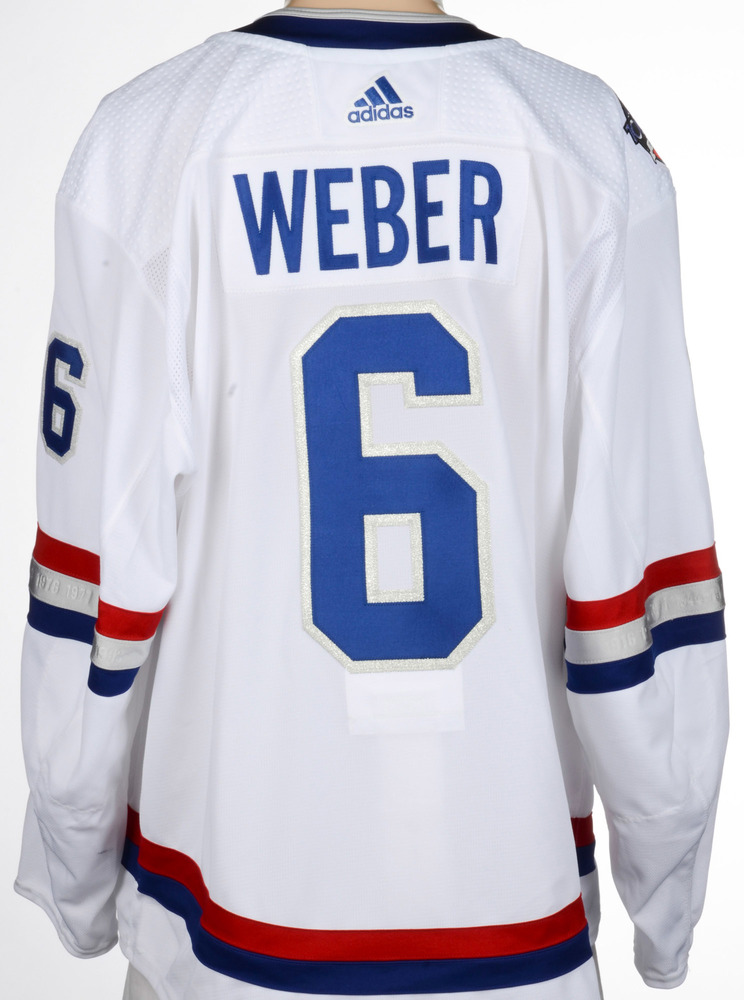 new york bd448 d39a2 Shea Weber Montreal Canadiens Game-Worn 2017 NHL100 Classic ...