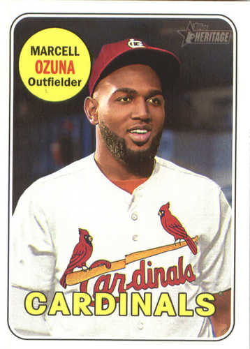 Photo of 2018 Topps Heritage #170 Marcell Ozuna