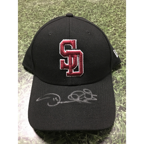 Photo of Darnell Coles Autographed, Game Worn Stoneman Douglas Eagles Cap