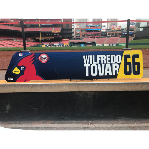 Photo of Cardinals Authentics: Wifredo Tovar Team-Issued Locker Tag